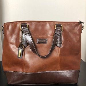 Tignanello | Classy Two Tone Leather Tote Bag